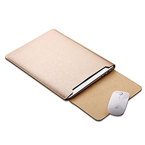ele ELEOPTION Mikrofaser Leder Laptop Sleeve Slim Hülle Cover Luxus PU Ledertasche Elagant Schutzhülle integriert Mousepad kompatibel mit 13,3