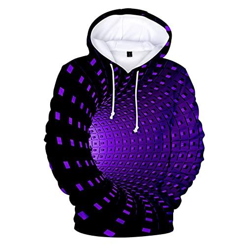 Covermason Sweat à Capuche Unisexe 3D Crâne Imprimé Pull Homme Manches Longues Décontracté Sportif Sweat-Shirts Hiver Hoodie Pochette (Noir3, 2XL)