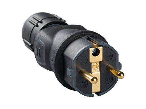Legrand, 050340 Bases y clavijas - Enchufe profesional, con protección en intemperie de caucho negro, 16A a 230V, material de gran resistencia para usos severos