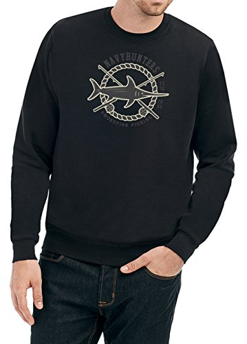 Swordfish Fishing Sweater Black Certified Freak-XL
