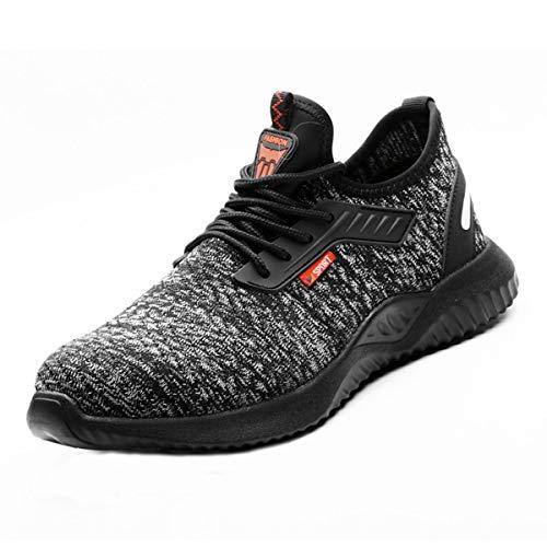DoGeek Zapato Seguridad con Punta de Acero, Zapatos Trabajo Antideslizante para Trabajo y Senderismo