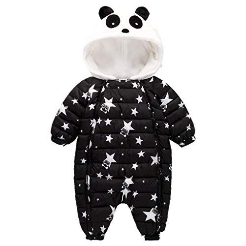 Bambino Tutina Hoodie Pagliaccetto Addensare Tuta da Neve Tutine Invernale Carino Panda Pigiama