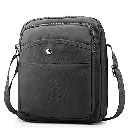 BAGZY Borsa a Spalla Uomo Borse Mano Sling Sacchetto per Lavoro a Scuola Uso Quotidiano Sport Borsello Forte Oxford Uomo Borsa a Tracolla Messenger Bag Casual Borsello di Crossbody