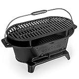 Rustler Griglia in ghisa – Barbecue a carbonella – 50 x 22 x 25 cm – Barbecue Portatile da...