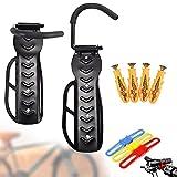 Soportes de Pared para Bicicletas, portabicicletas vertical de pared que ahorra espacio y se puede usar en interiores y exteriores. Cada portabicicletas puede soportar un peso de 30 kg (2 piezas)