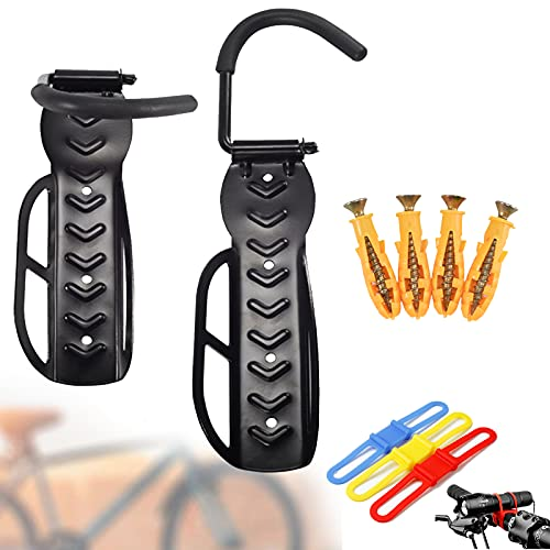 Soportes de Pared para Bicicletas, portabicicletas vertical de pared que ahorra espacio...