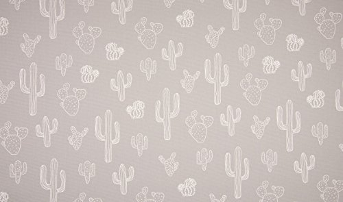 QT /Canvas/Bedruckt/Cactus/grau/Taschenstoff/Homedeko/Meterware/0,5x150 cm