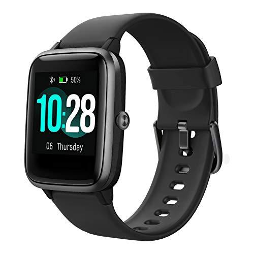 BNMY Smartwatch Reloj Inteligente Impermeable IP68 con Monitor De Sueño Pulsómetros Cronómetros Contador De Caloría, Pulsera De Actividad Inteligente para Hombre Mujer Niños con iOS Y Android,Negro