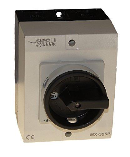 25A Hauptschalter Lasttrennschalter Not-Aus-Schalter MX-325P IP65/5kW