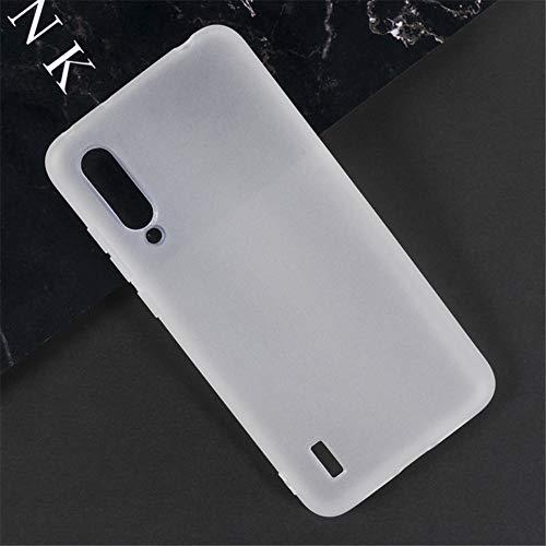 Capa para Xiaomi Mi CC9e, capa traseira de TPU macia resistente a arranhões à prova de choque de borracha de gel de silicone anti-impressões digitais Capa protetora de corpo inteiro para Xiaomi Mi A3 (branca)