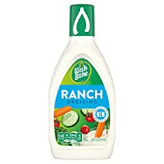 One 15 fl oz bottle of Wish-Bone Ranch Dressing Creamy ranch dressing adds bold flavor to your favorite recipes Made with onion, garlic and black pepper Gluten free salad dressing contains no high fructose corn syrup Adds classic flavor to fresh sala...