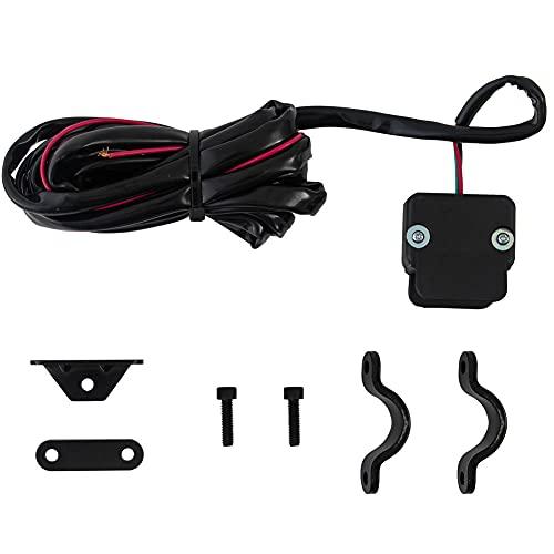 12 V Interruptor de pulgar basculante de cabrestante,Kit de Relé de Cabrestante con soporte de montaje Kit de línea de control del manillar