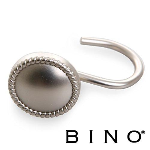 BINO 'Chambord' Shower Curtain Hooks, Nickel, Set of 12