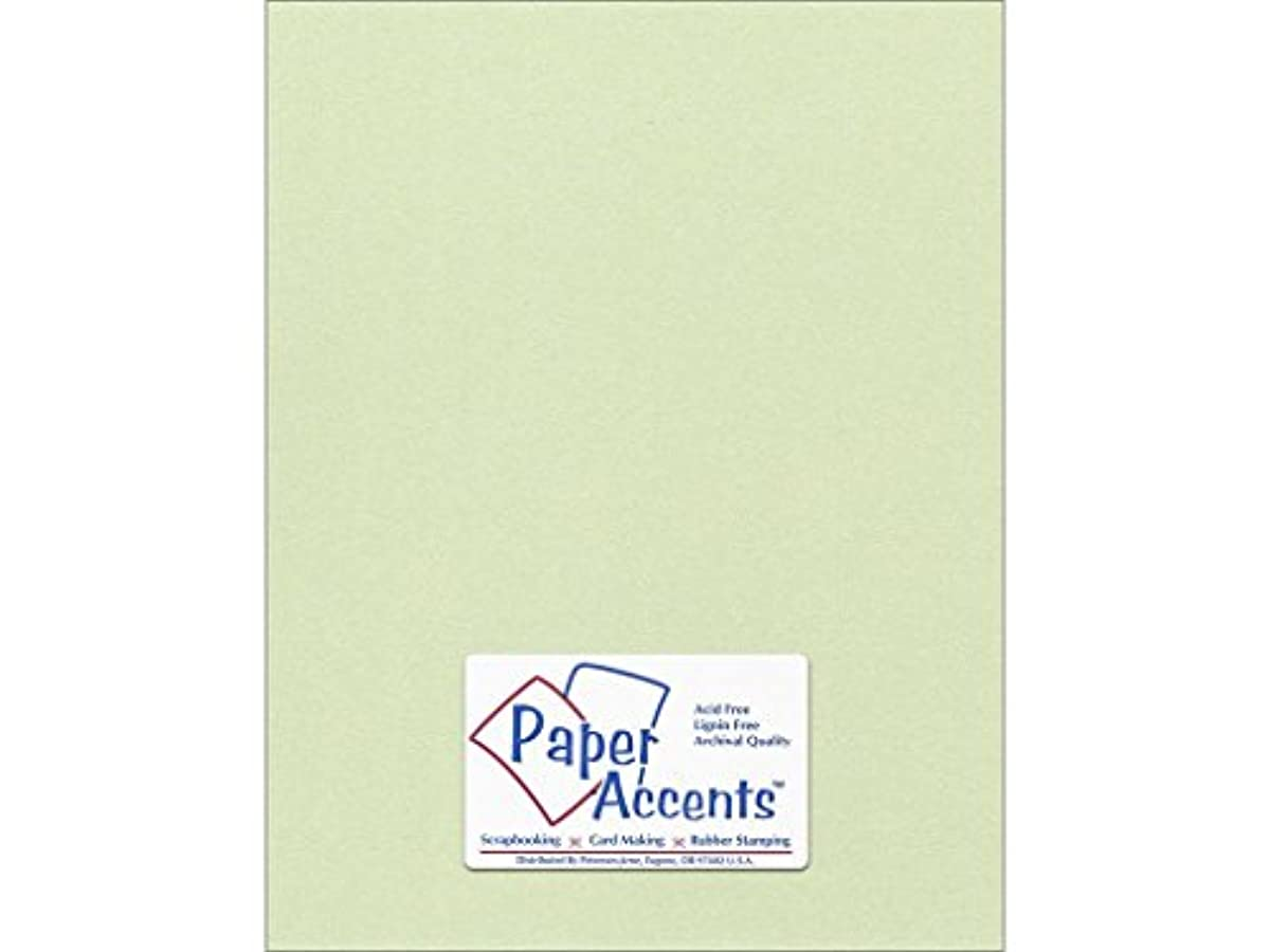 Accent Design Paper Accents 8.5x11 Pearlized Honeydew