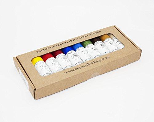 Michael Harding's Artist Oli Colours, Plein Air Oil Paint Painter Set, Ten 40ml Tubes, 0040013