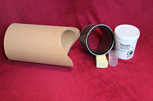 Wandfutter Schornsteinanschluss Kaminanschluss Schamotterohr Set (Stutzen 180mm)