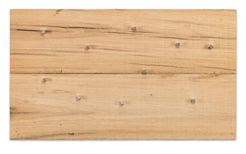 Eichenholz Magnettafel 70 * 40cm 600 Jahre altes Holz aus Historischem Bestand von Burgen und Schlössern inkl. 10 Neodym Magnete (70 x 40 cm)