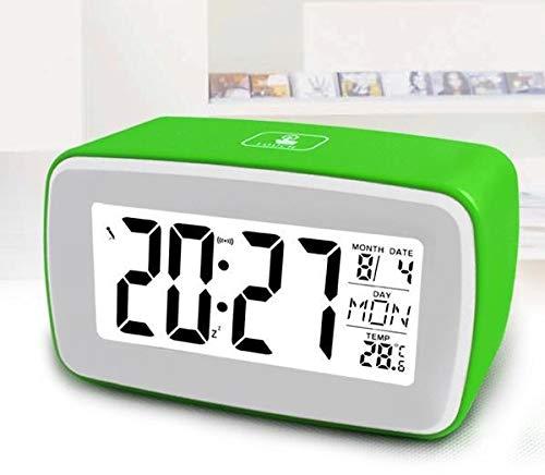 QZXCD Wekker creatieve opneembare wekker groot scherm slimme klok natuurlijke geluid muziek klok snooze touch licht wekker