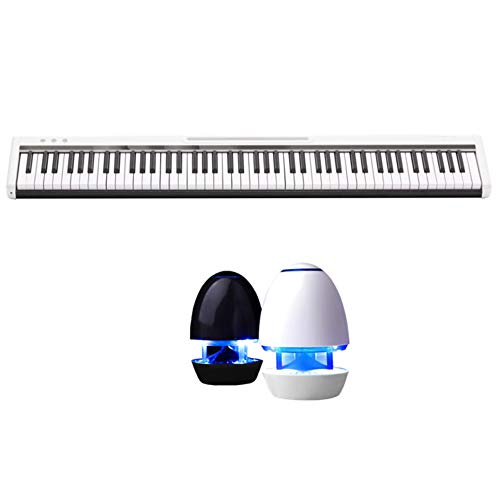 Buy LVSSY-Electronic Piano Full Range Standard 88 Keys,Semi-Gravity Keys,Adult Home Self Study Bluet...