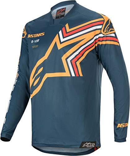 Alpinestars Casacca MX 2020 Racer Braap Blu Scuro Arancio (L, Blu Scuro)