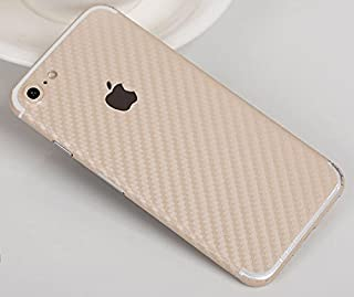 İPhone 7 -İPhone 8 Karbon Fiber Kaplama Sticker KREM