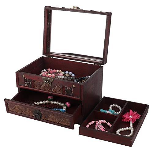 Gelaagde sieraden opslag ketting oorbel sieraden houder decoratie interieur compartiment verwijderbaar voor winkel sieraden