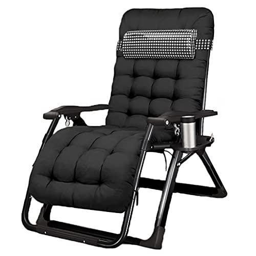 WWKDM1 Ashton - Silla reclinable Plegable de Gravedad Cero para Exteriores, Tumbona Acolchada para Patio con reposacabezas Ajustable, Soporte para Tumbona multifunción de 220 LB