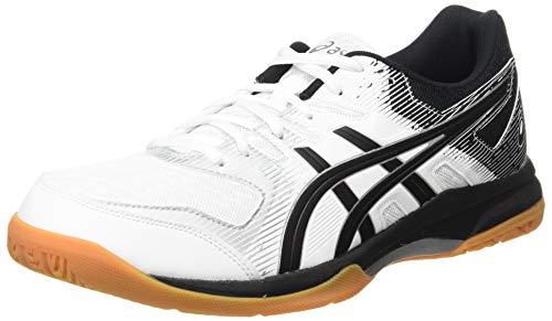 ASICS Damen Gel-Rocket 9 Indoor Court Shoe, Weiß/Schwarz, 44.5 EU