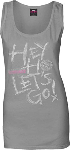 Ramones Hey Ho Camiseta de Tirantes, Gris, X-Large para Mujer