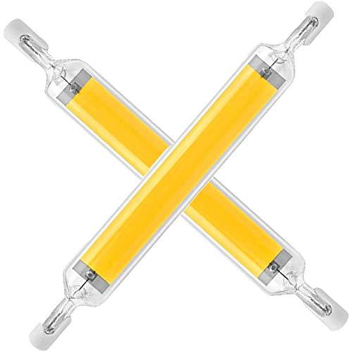 YDHNB 20W 118mm Lámpara Led R7s, Reflector Lineal Ángulo De Haz De 360 °, 110V/230V Regulable COB de Doble Extremo J118 Luz Lineal de Reflector de Base, 2 Unidades,Natural White,110V~140V