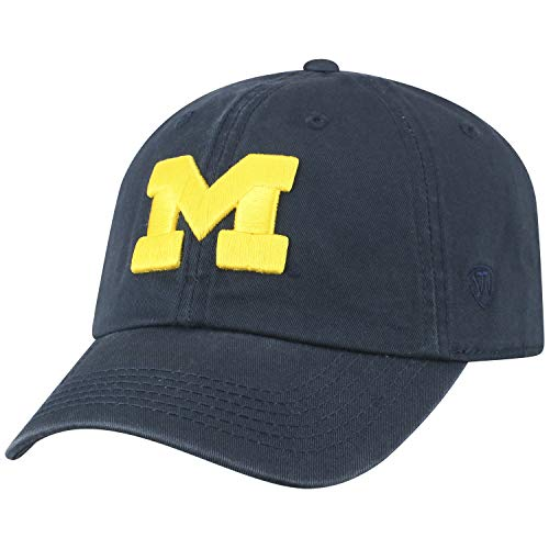 Top of the World NCAA Michigan Crew Adjustable Hat, Navy