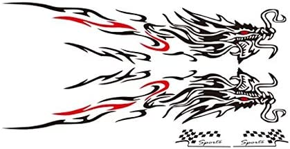 XingLing 1 Outlet ☆ Free Shipping Set New 180cm Car D Dragon Wholesale Flame Fire Sticker Styling