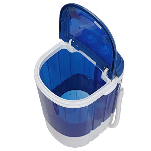 SUPER DEAL Portable Mini Washing Machine 9lbs Capacity Compact Counter Top Washer Mini Laundry Machine w/Spin Cycle Basket and Drain Hose