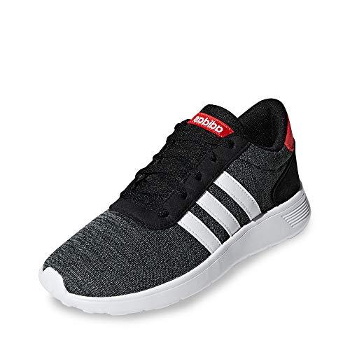 adidas Lite Racer K, Zapatillas de Running Unisex niños, Negro (Core Black/FTWR White/Active Red Core Black/FTWR White/Active Red), 31.5 EU