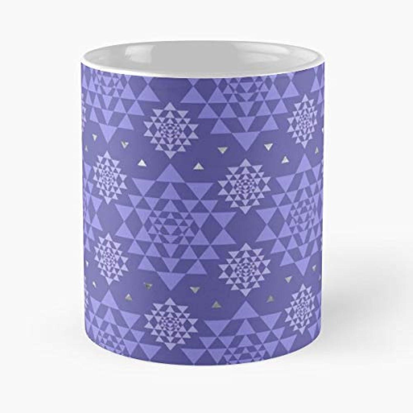 Sri Yantra Colors Shri Vidya Chakra - Morning Coffee Mug Ceramic Novelty, Funny Gift
