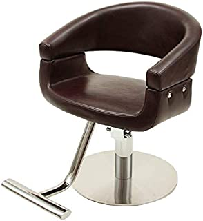 スタイリングチェア MILANO ダークブラウン [ スタイリングチェア チェア 椅子 イス セットチェア セット椅子 セットイス カットチェア カット椅子 カットイス 美容室椅子 美容室 美容師 ]