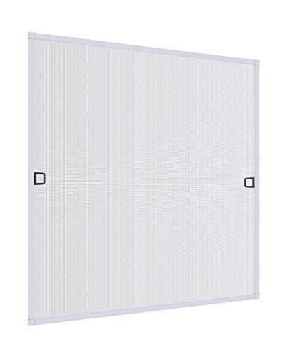 Rhino Screen Insektenschutz Spannrahmen Fliegengitter für Fenster Fenstergitter Fliegenschutz, aus Aluminium, weiß, 130 x 150 cm, 03767