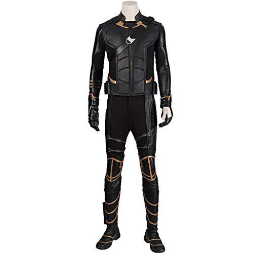 nihiug Avengers 4 Movie Cos Costume Hawkeye Hawkeye Vest Vest Completo Costume Puntelli Halloween,Black-M