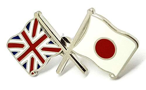 Japón y United Kingdom Amistad Bandera Pin Insignia Union Jack Británico Japonés Bandera y la Bandera de Japón