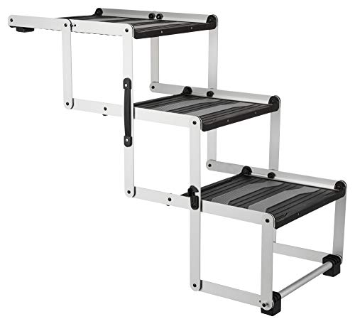 Trixie Heavy Duty Foldable Aluminum Pet Steps, for Dogs Up to 165 Pounds Height Adjustable from 19.5 to 27.5 Inches Review