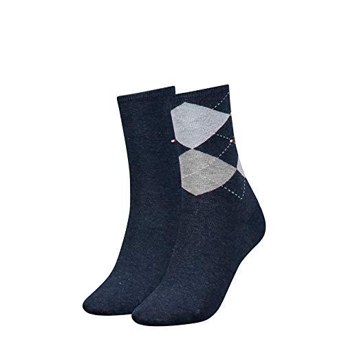 Tommy Hilfiger Damen Socken, 2er Pack, Blau (jeans 356), 39/42