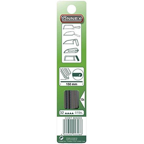 Connex COXT805003 Ersatzsägeblätter für Schnitte in Metall, 32 Zähne pro Zoll, Länge 150 mm, 12 Stück
