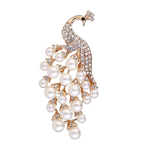 Carl Hamilton Elegant Pearl Peacock Bouquet Brooch Animal Peacock Brooch Pins Feather Brooches Women Wedding Bridal Party Jewelry-Peacock-