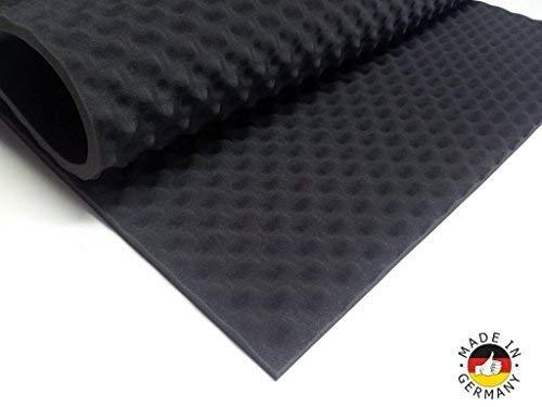 Akoestisch schuim als akoestische Noppenschaumstoff plaat (200x100x3cm antraciet/zwart) gemaakt van hoogwaardige Pur-Schaumstoff zakken, Case Isolatie