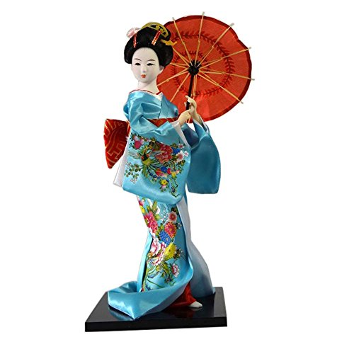Muñecas japonesas Geisha Girl Geiko Kimono muñeca decoración del hogar Colección de arte, # 18
