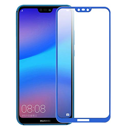 Needyo-Screen Protectors 9H Protective Glass For P20 Lite Pro Full Cover Screen Protector Film For P20 Pro P 20 P20 Lite Tempered Glass HD Blue For Huawei P20 Lite