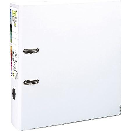 Exacompta - Réf. 53348E - 1 classeur à levier A4 MAXI Prem'Touch - Dos de 80 mm - Mécanique 80 mm - Dimensions extérieures : 32 x 30 x 8 cm - Format à classer A4 Maxi - Coloris : Blanc