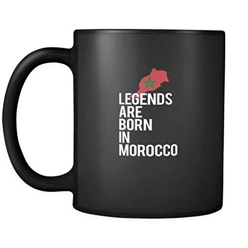 N\A Taza Marruecos Leyendas Nacen en Marruecos 11oz Negro
