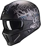 Scorpion Casco de moto COVerde-X WALL Matt Black-Silver, Negro/Gris, M