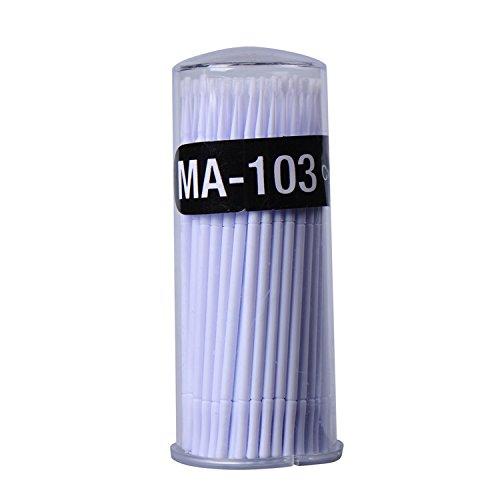 oshide Lot de 100 micro brosses/bâtonnets de nettoyage